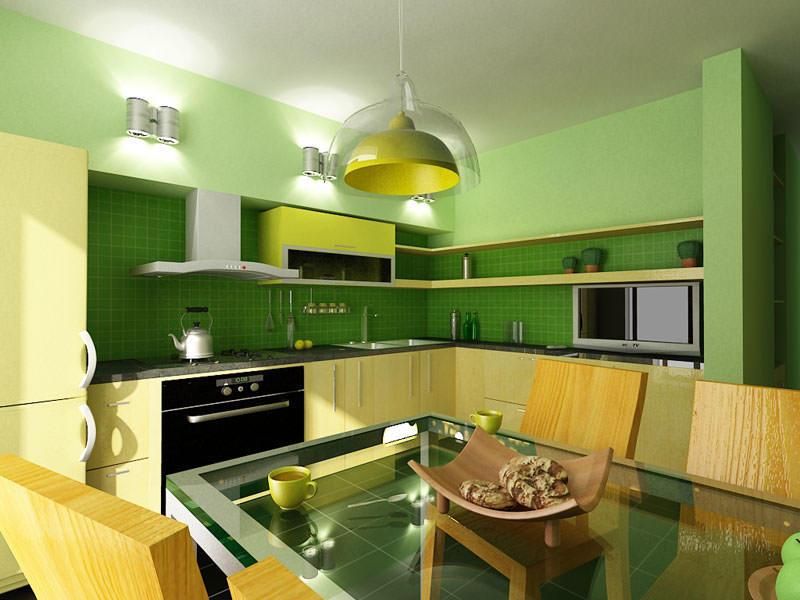 Зеленый цвет идеально подходит для кухни 15 кв. м, так как является нейтральным - не скрадывает пространство, как более темные цвета, и не напрягает излишней контрастностью