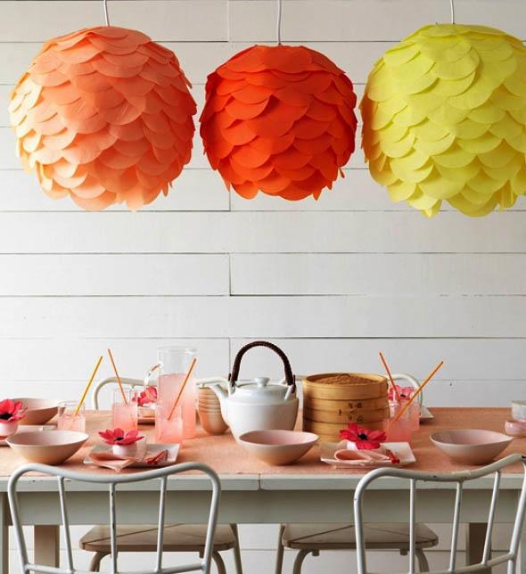 Абажур на кухне - это не только украшение источника света, но и оригинальный декор всего помещения