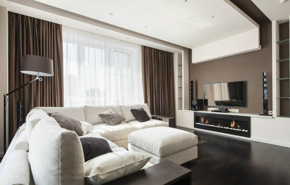 Оформляя гостиную в стиле хай-тек, необходимо подбирать только удобную, практичную и функциональную мебель