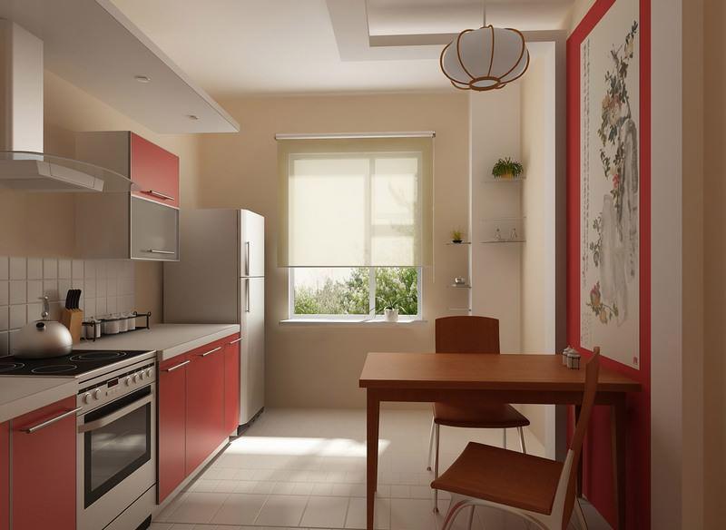 Кухня в японском стиле будет выглядеть свободной и просторной