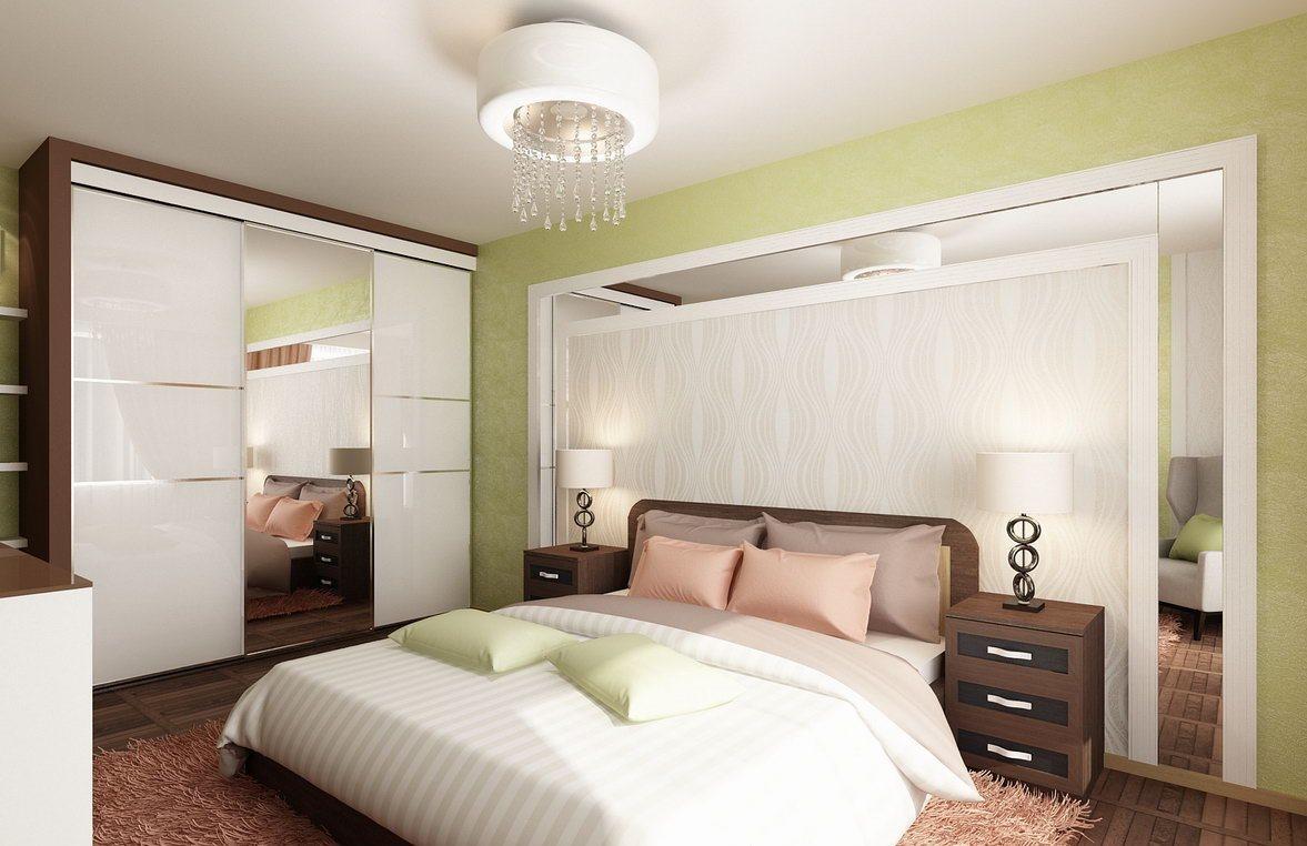 Дизайн спальни в зеленых тонах фото: цвета в интерьере, оттенки мебели, сочетание нежного белого с коричневым