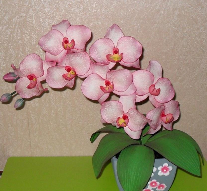 Для того чтобы более подробно узнать о том, как делать орхидею из фоамирана, вы можете посмотреть увлекательный мастер-класс