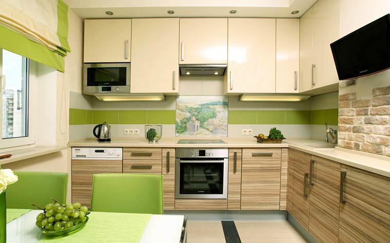 Светлые оттенки способны расширить любое помещение! Не забывайте об этом, выбирая цвет стен и гарнитура на своей кухне
