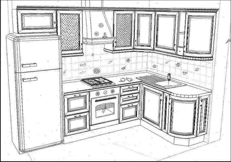 Перед конструированием новой мебели, необходимо создать эскиз или проект гарнитура с точными размерами
