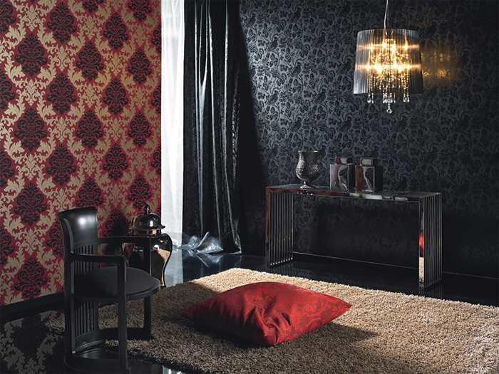 Сейчас набирают популярность интерьеры с различными видами обоев в одной комнате