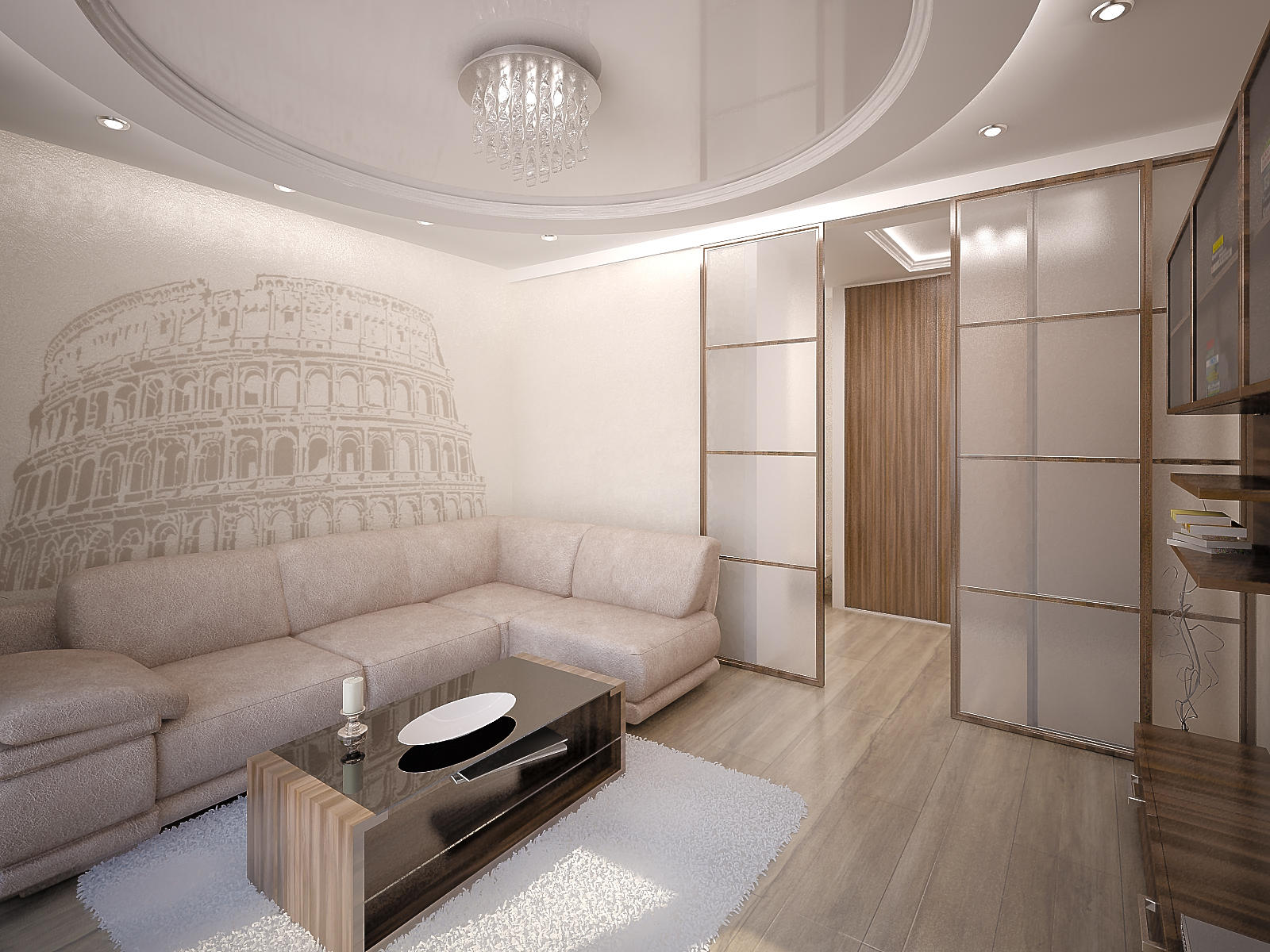Оформить стены в хрущевке можно с помощью гипсокартона, обоев или декоративной штукатурки