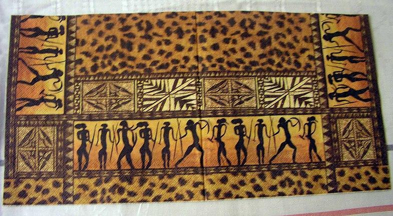 Для декупажа в стиле «Африка» характерны геометрические линии и формы