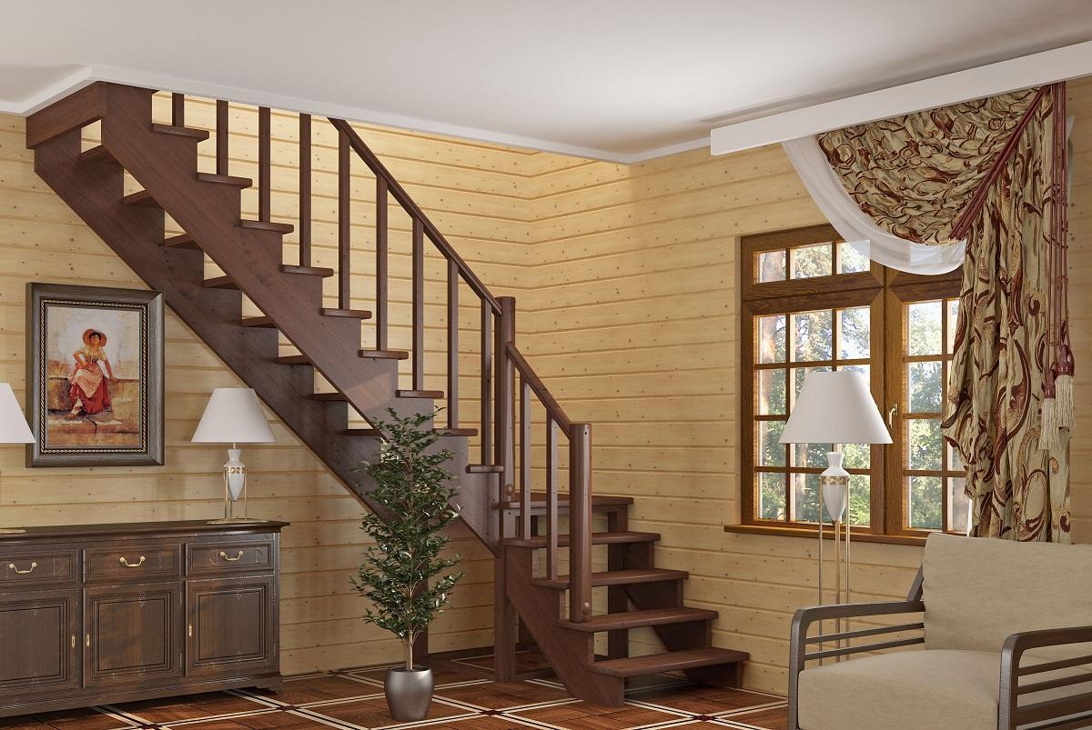 Среди преимуществ Г-образных лестниц стоит отметить отличные эстетические свойства и хорошую функциональность