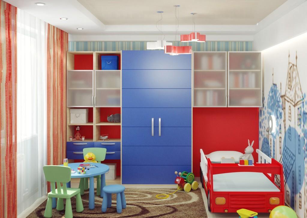 При обустройстве спальной комнаты для мальчика важно позаботиться о безопасности и функциональности помещения