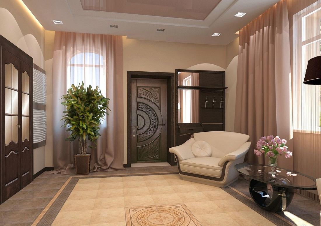 Бежевый и коричневый оттенки отлично подходят для небольших гостиных, поскольку при правильном сочетании этих цветов можно визуально увеличить помещение