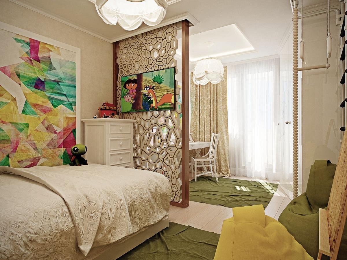 Существует широкое разнообразие перегородок для детской комнаты, отличающихся по форме, цвету и материалу, из которого они изготовлены