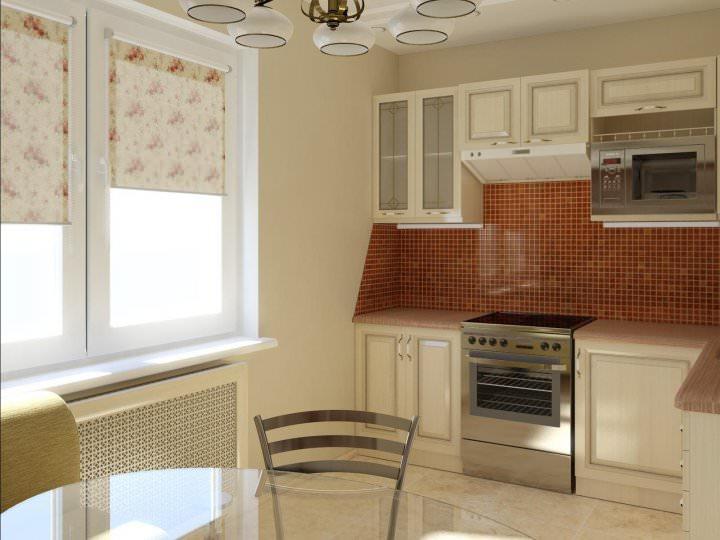 При грамотном подходе стандартная кухня в панельном доме сможет заиграть новыми красками