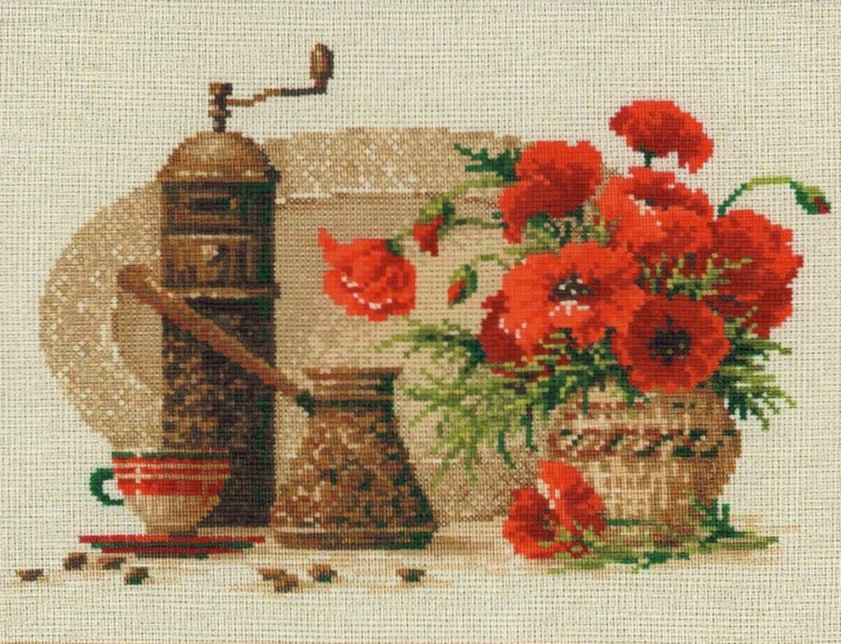 Вышивка крестом маки: схема бесплатно, наборы маковое поле, алые Риолис, скачать красные ромашки на черном