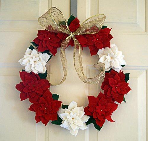Новогодний ободок на дверь - один из вариантов поделок из фоамирана