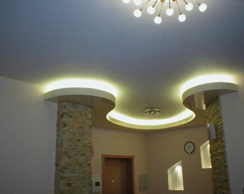 Потолок в коридоре из гипсокартона фото: дизайн в узком и длинном коридоре, подвесной двухуровневый своими руками