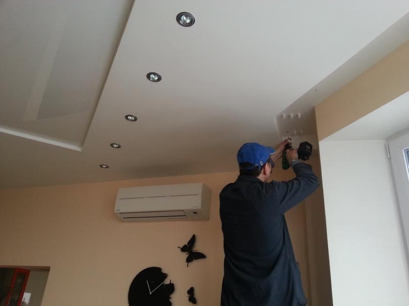 Гардины для штор под натяжной потолок