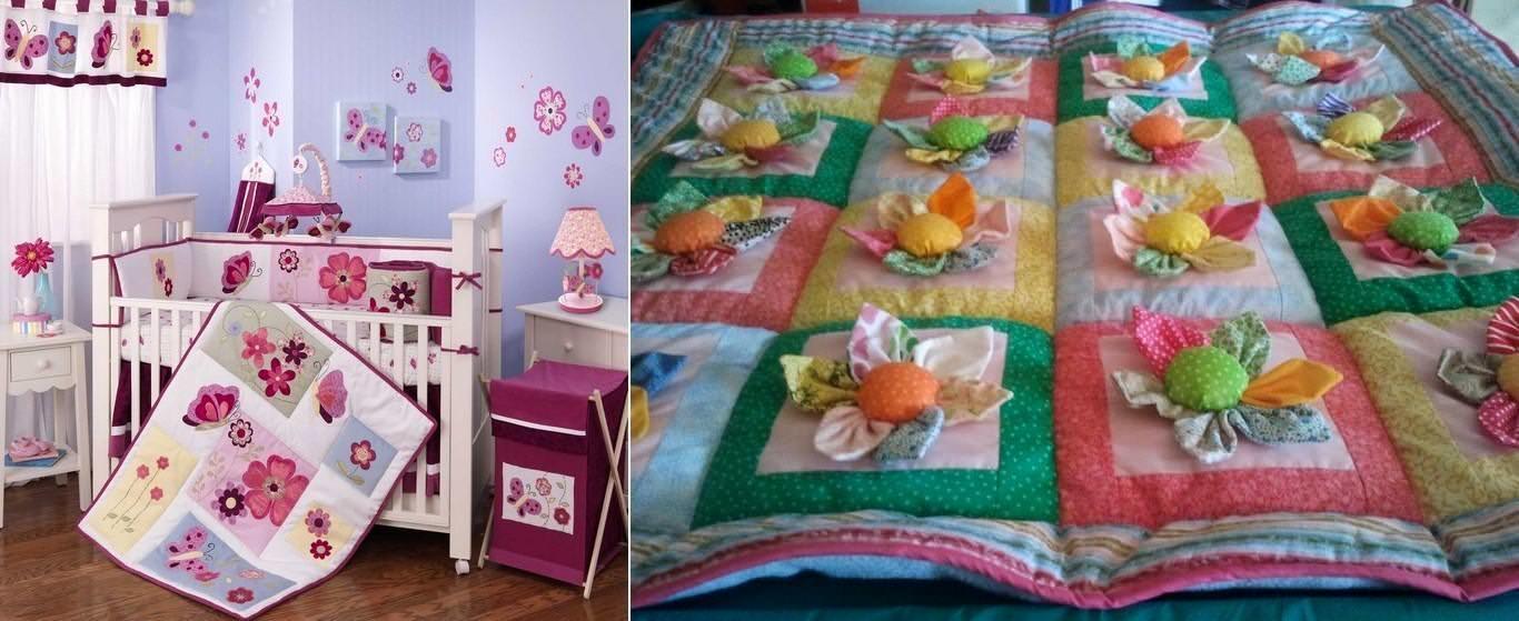 Декор детской комнаты в стиле пэчворк способен сделать жизнь маленького ее обитателя сказочной