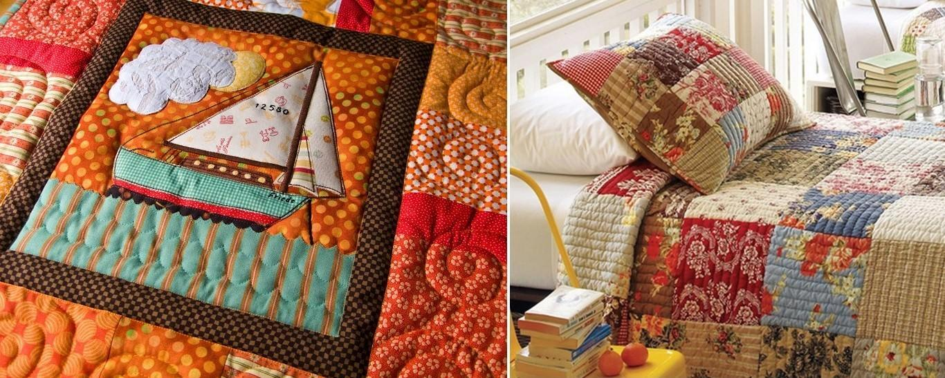 Уютный теплый плед или лоскутное одеяло преобразят интерьер любой спальни