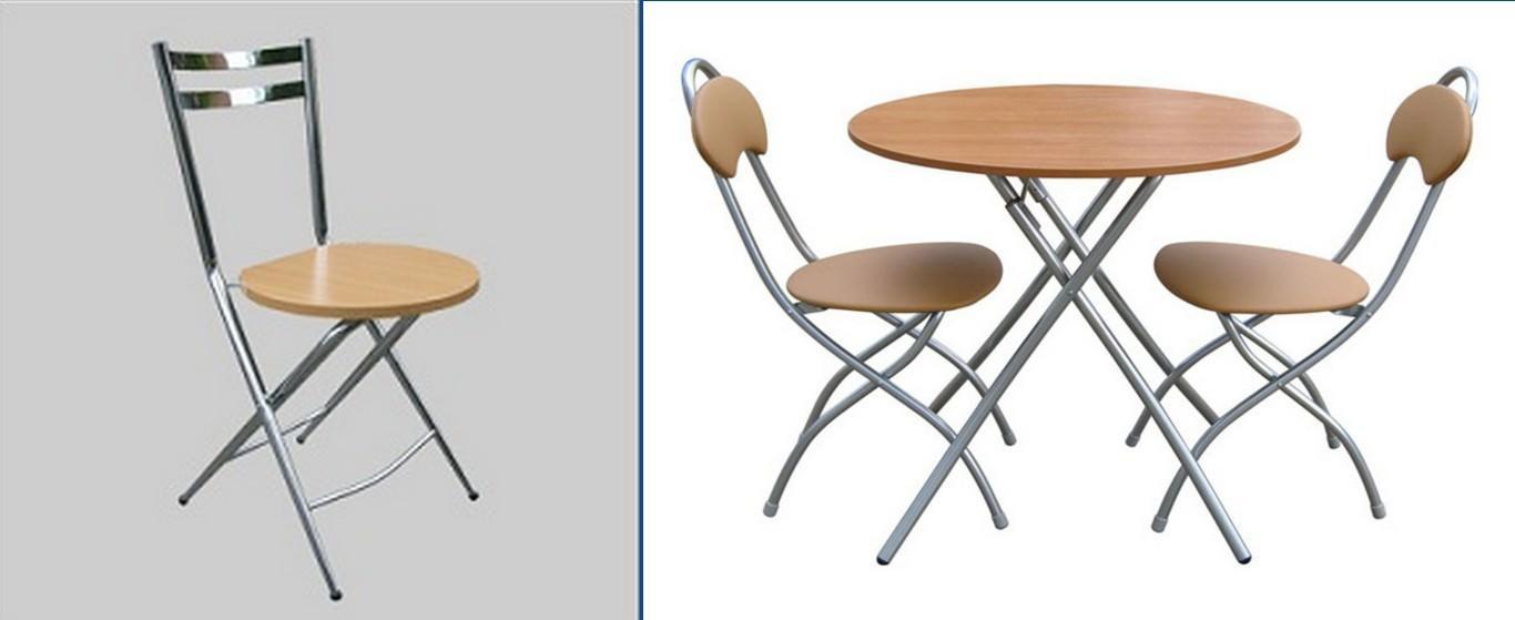 Складные стулья из металла имеют защитное покрытие, предохраняющее изделие от влаги