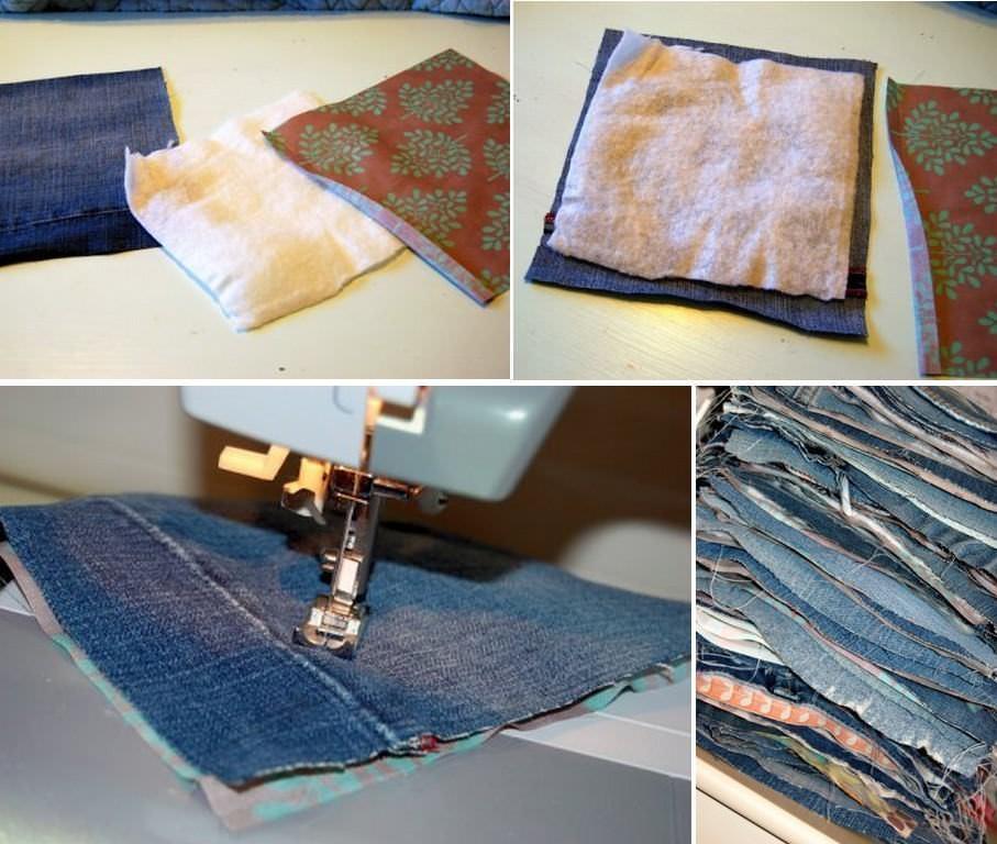 Квадраты удобно сшивать сначала в полоски, соединяя потом прямоугольники в одно целое