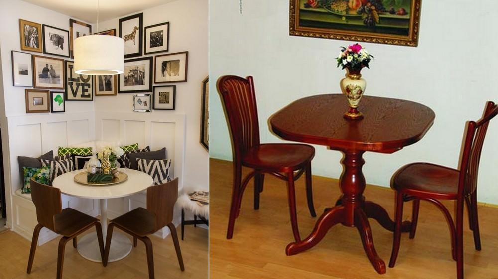 Два стула, которых порой недостаточно, можно дополнить уютным компактным диваном
