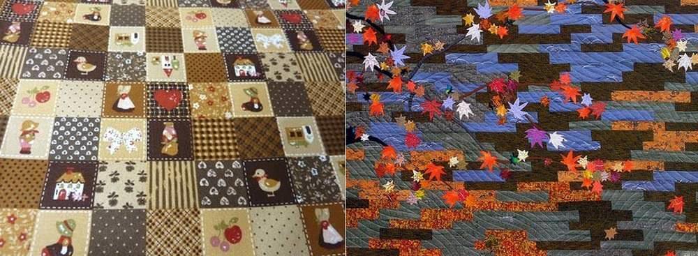 Для лоскутного шитья в японском стиле характерно применение нескольких приемов одновременно