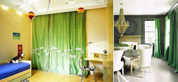Зеленые шторы на кухню: фото оранжево синих штор, белые цвета, дизайн занавесок для стен, видео