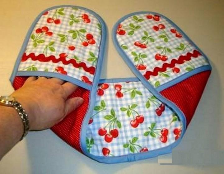 Прихватку для горячего можно шить разными способами