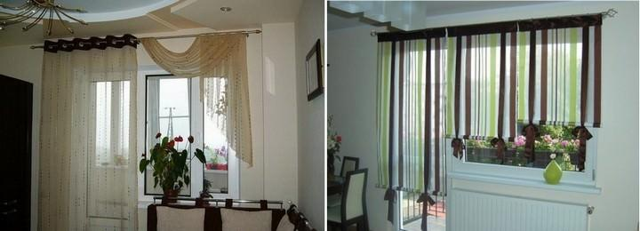 Шторы для спальни с балконной дверью