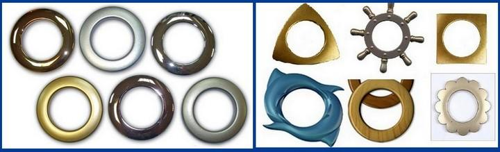 Помимо размеров, важно определиться с расцветкой и конфигурацией люверсов