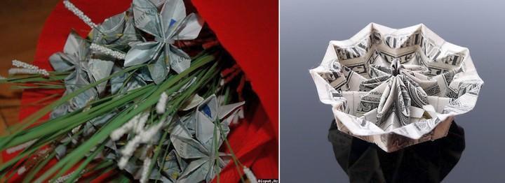 Чем выше номинал банкноты, из которой изготавливается цветок, тем дороже и привлекательнее будет выглядеть денежное дерево