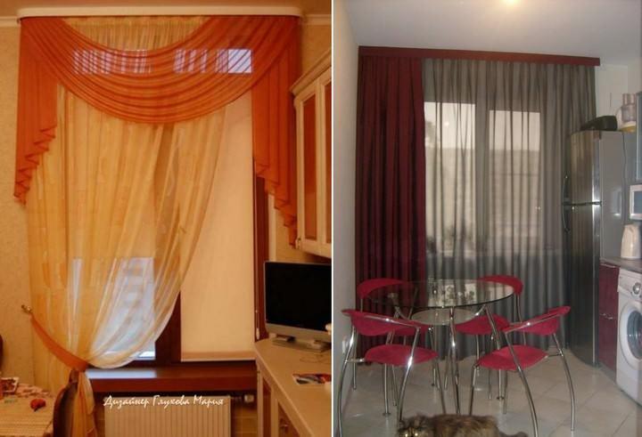 Готовые шторы: фурнитура и аксессуары, комплект штор для кухни, фото, своими руками занавески, комплектующие, детали, видео