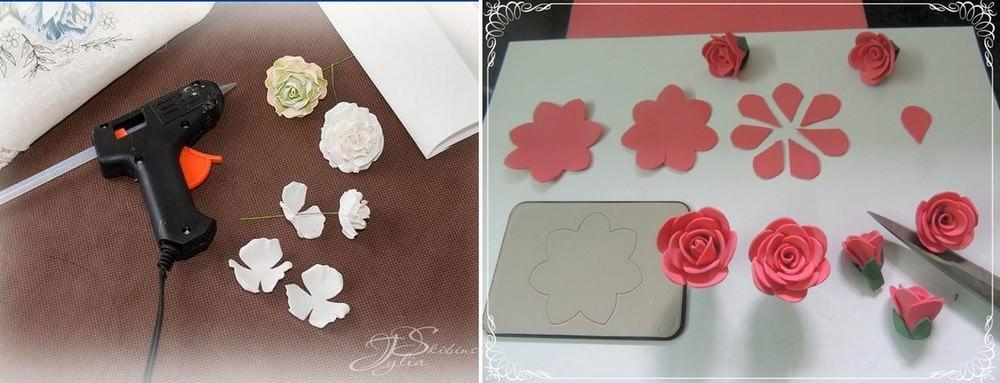 Каждый способ изготовления розы из фоамирана предполагает свой метод сборки цветка. Общая у всех методов лишь необходимость в наличии материалов