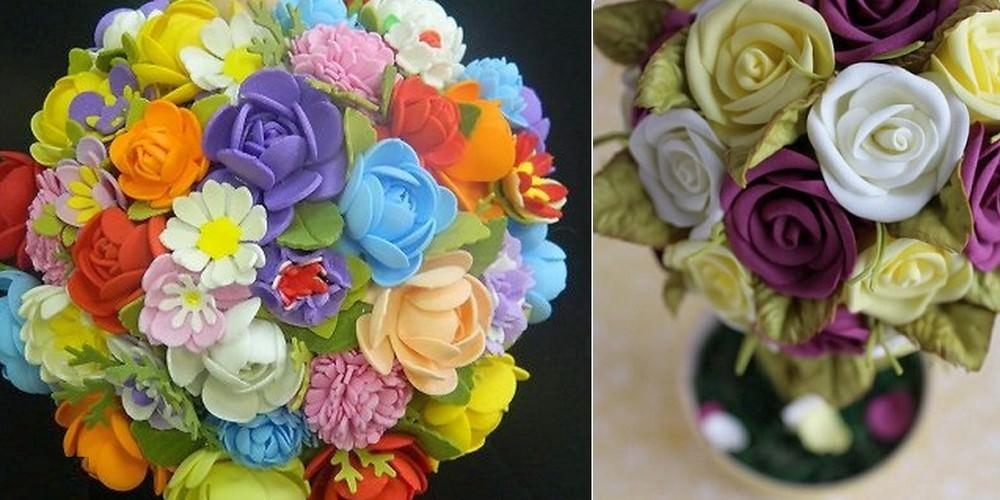 Конфигурации, размеры и расцветки цветов для кроны вы определите для себя сами. Основным фактором является наличие того или иного типа материала (на выбор могут влиять цвет и толщина)