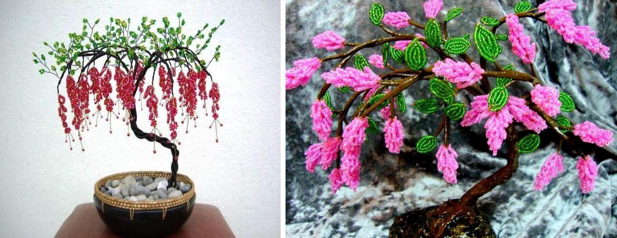 Помимо красных и розовых цветов, можно выбрать и более нестандартные тона для вашего дерева