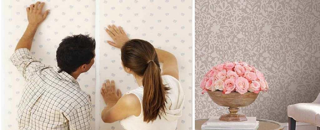 Хоть на обои клей наносить и не нужно, но перед поклейкой обоев, следует обязательно провести грунтовку и шпаклевку стены