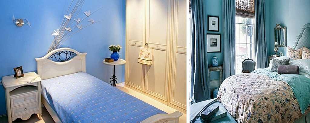 Голубые обои подойдут для спальни: они успокаивают и помогают отдохнуть после тяжелого рабочего дня