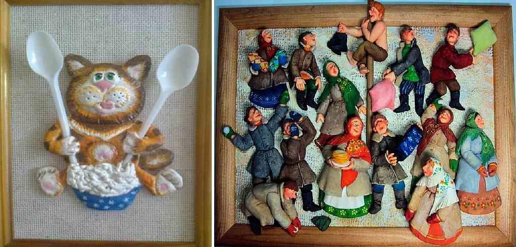Помимо овощей, на кухню можно повесить панно с изображением народных мотивов