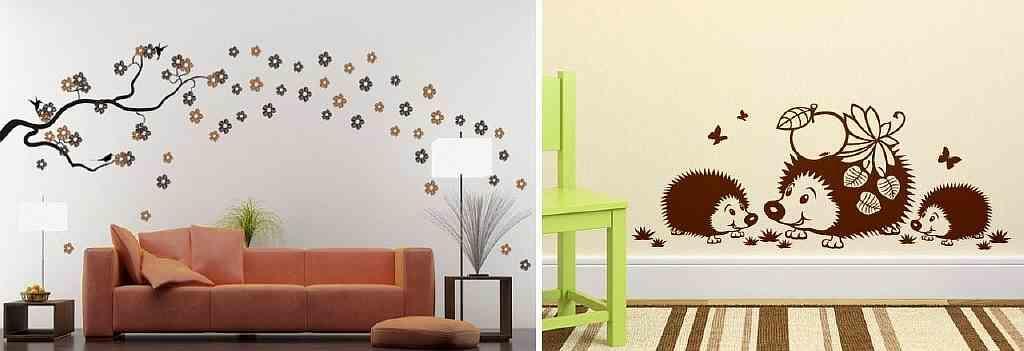 Если вы желаете изменить интерьер без поклейки новых обоев, то для вас подойдут специальные наклейки на стену