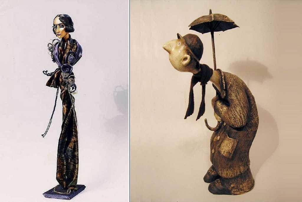 Для создания театральной куклы потребуется не только папье-маше, но и другие материалы; к примеру, вата, ткань и другие