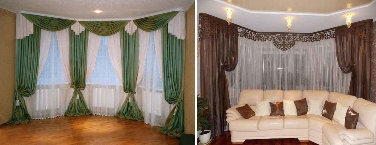В большинстве стилей позволительно использовать шторы, которые отличаются по цвету от общего интерьера