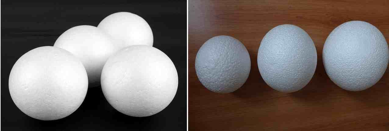 Если вы не желаете тратить время на создание шара, то можно приобрести обычный шарик из пенопласта