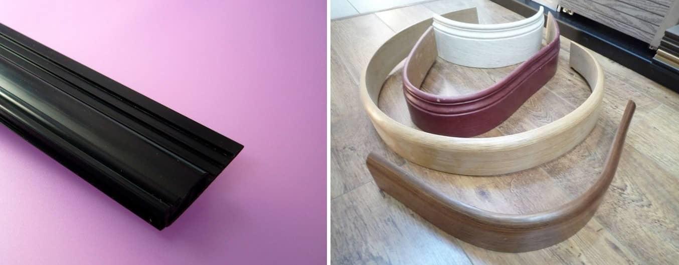Гибкий багет для потолка обладает следующими характеристиками: легкий, гибкий и прочный