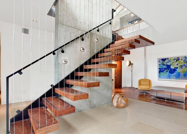 Лестница в стиле хай-тек является оригинальной и креативной конструкцией, которая с легкостью станет изюминкой в современном интерьере