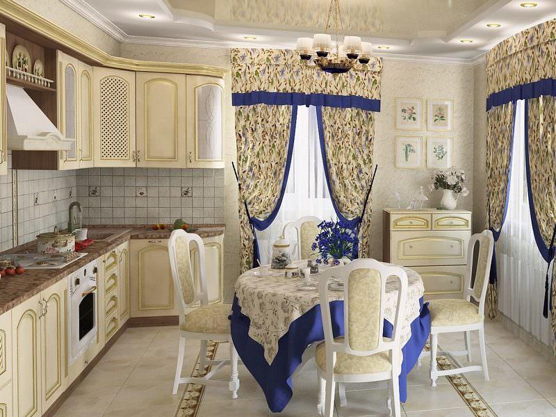 Немаловажную роль в обустройстве интерьера кухни играет текстиль