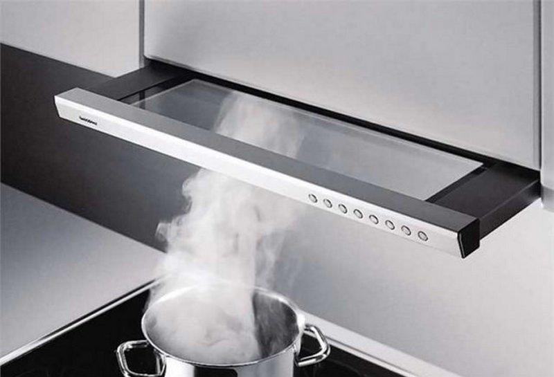 Мощность выбираемой вытяжки в основном зависит от площади кухни