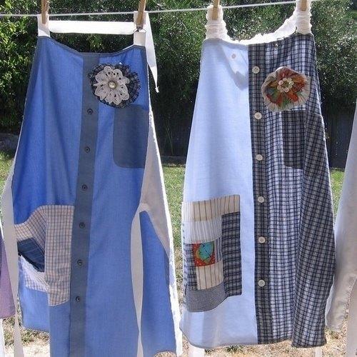 Оживить аксессуар можно декором из той же рубашки
