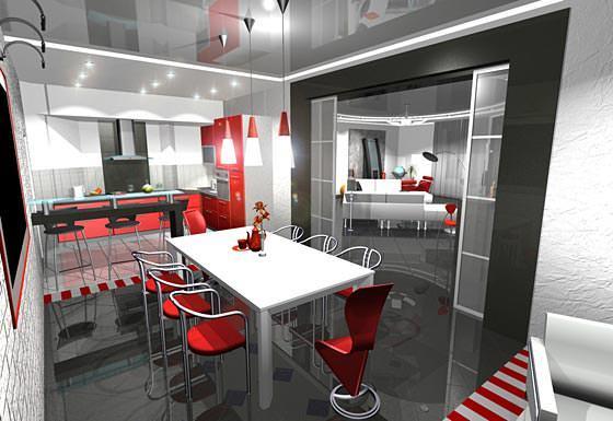 Кухня, включающая в <i>кухонь</i> себя полноценную столовую, является очень комфортным и уютным помещением