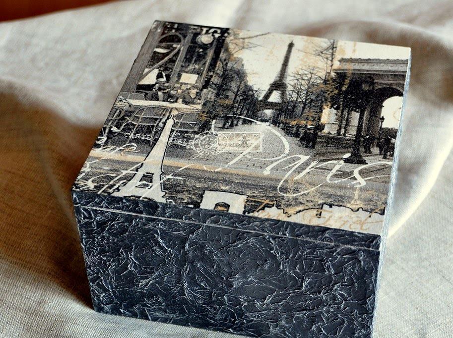 Красивая шкатулка с изображением Парижа станет прекрасным подарком на любой праздник