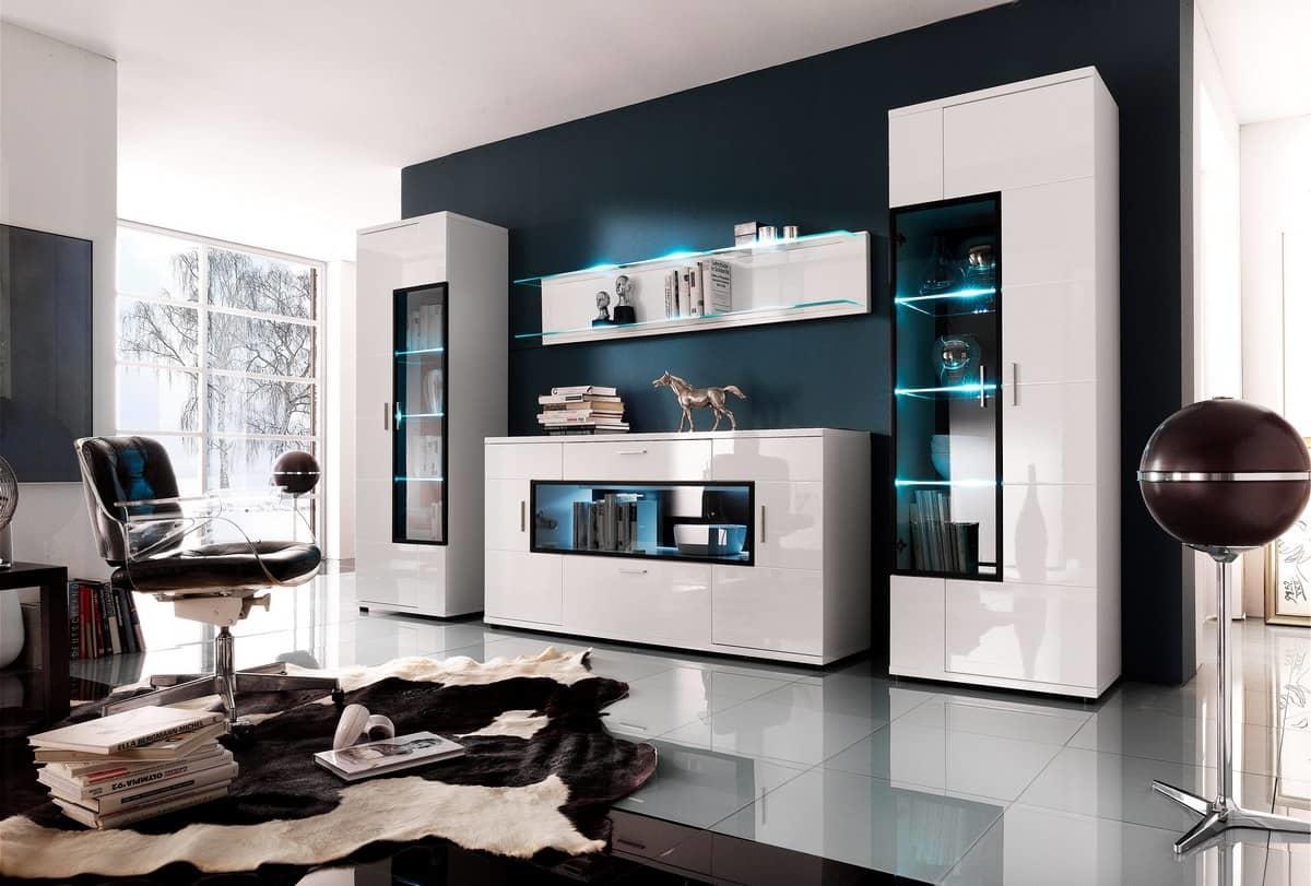 На сегодняшний день существуют потрясающие дизайны модульных стенок для гостиной
